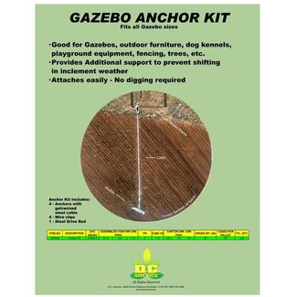 Gazebo Anchor Kit with 4 Anchors